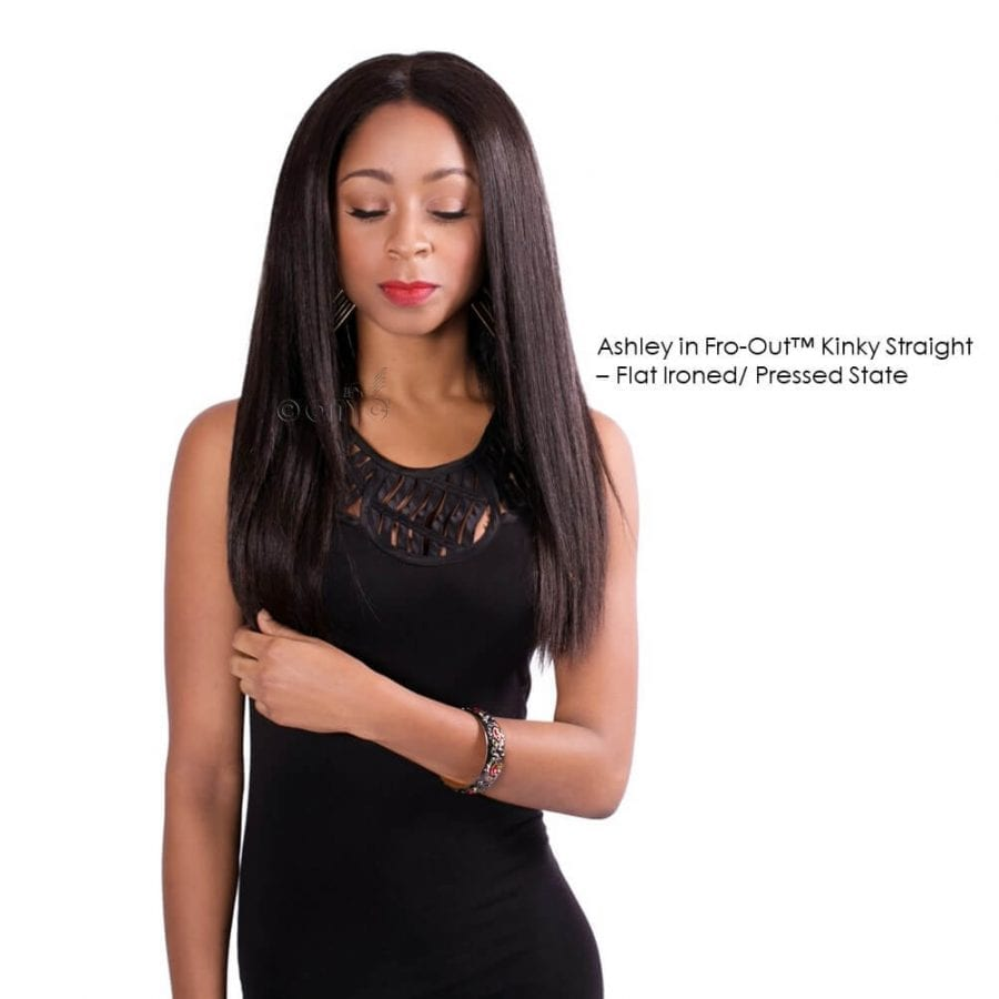 Ashley In ONYC Hair Fro Out™ Kinky Straight Blow Out Hair Pressed