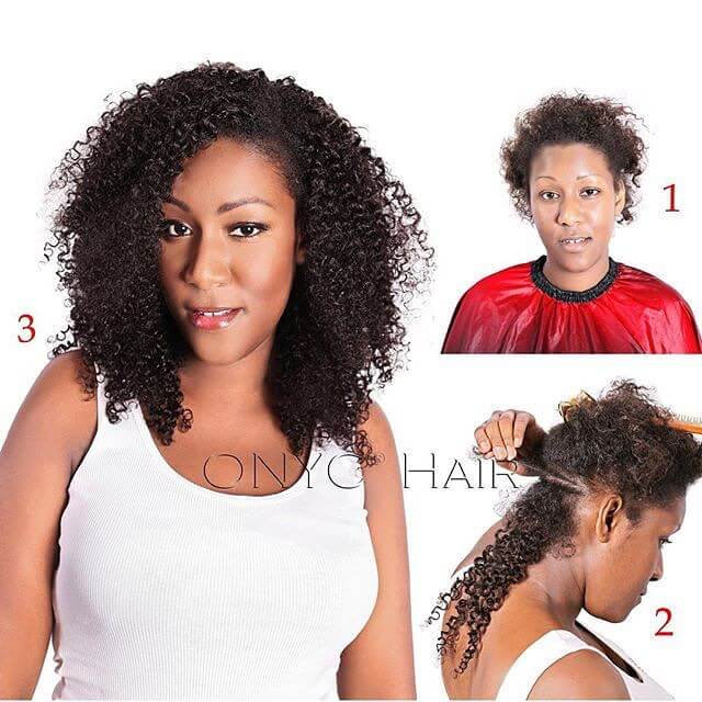 Before And After On ONYCBeuaty In Kinky Curly 3B 3C