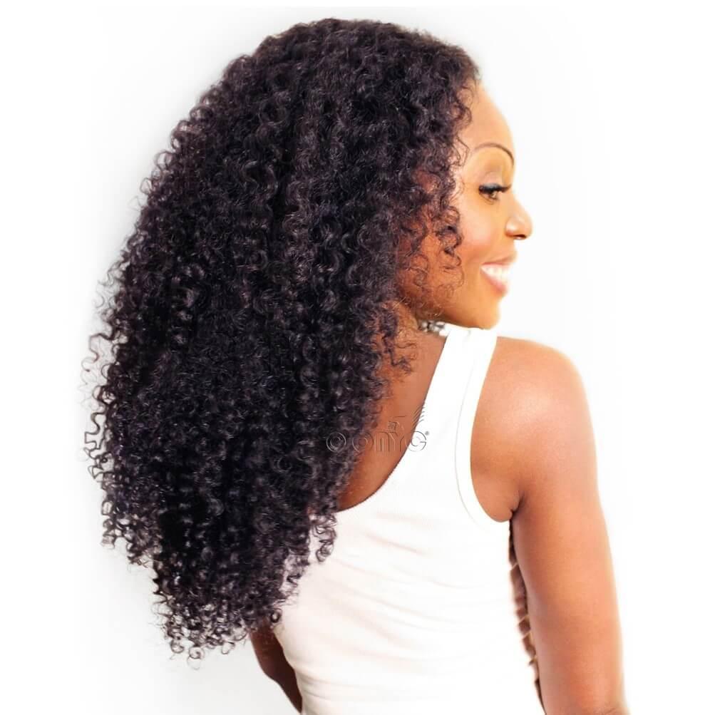 Virgin Kinky Curly Hair Extensions Machine Weft ONYC 3B-3C Curl Best Kinky Curly Weave Hair Extensions Machine Weft ONYC Hair Extensions