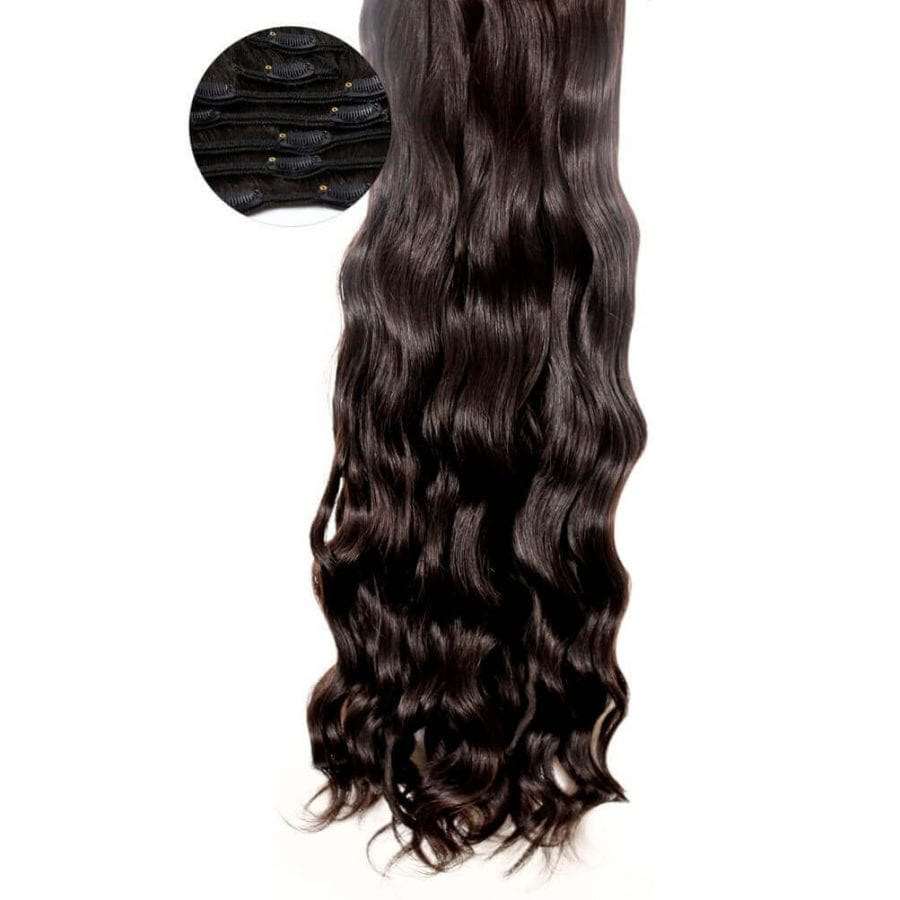 Wavy Hair Clip In Extensions 7 Piece Clip In Body 2 Wavy Hair