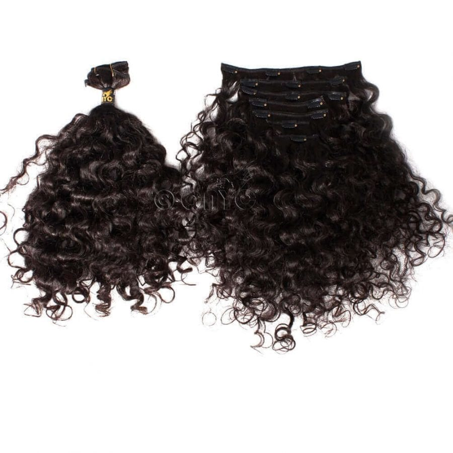 Deep Curly Clip In Hair Extensions ONYC 7 Piece Clip In Curly Addiction 3B Deep Curly Hair2