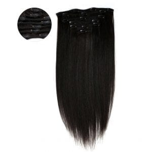 straight hair clip in 7 Piece Clip In Light Relaxed Hair