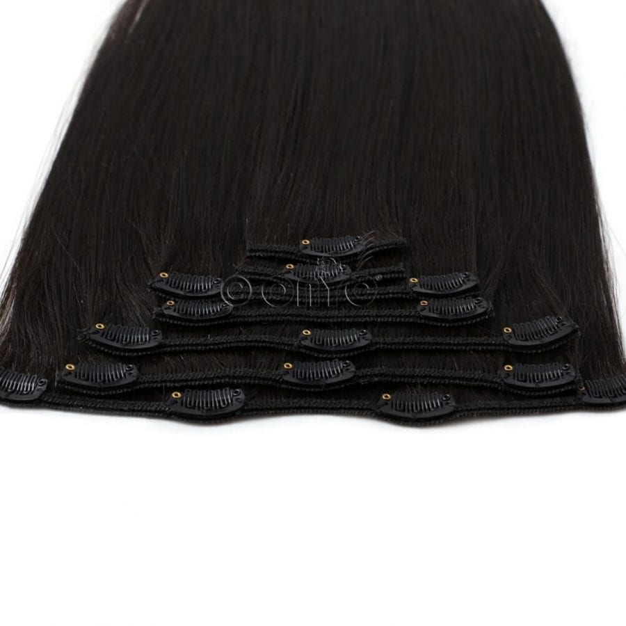 Clip in Hair Extensions Questions frequently asked straight hair clip in 7 Piece Clip In Light Relaxed Perm Hair Clip View