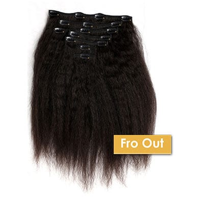 ONYC Fro Out Kinky Straight Clip In Hair