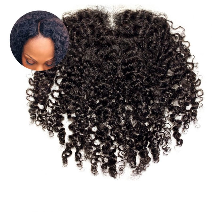 Kinky Curly Closure Piece Frontal Natural Kinky Curly Hair Lace Closure ONYC Hair Kinky 3B 3C™ Frontal Lace Closure