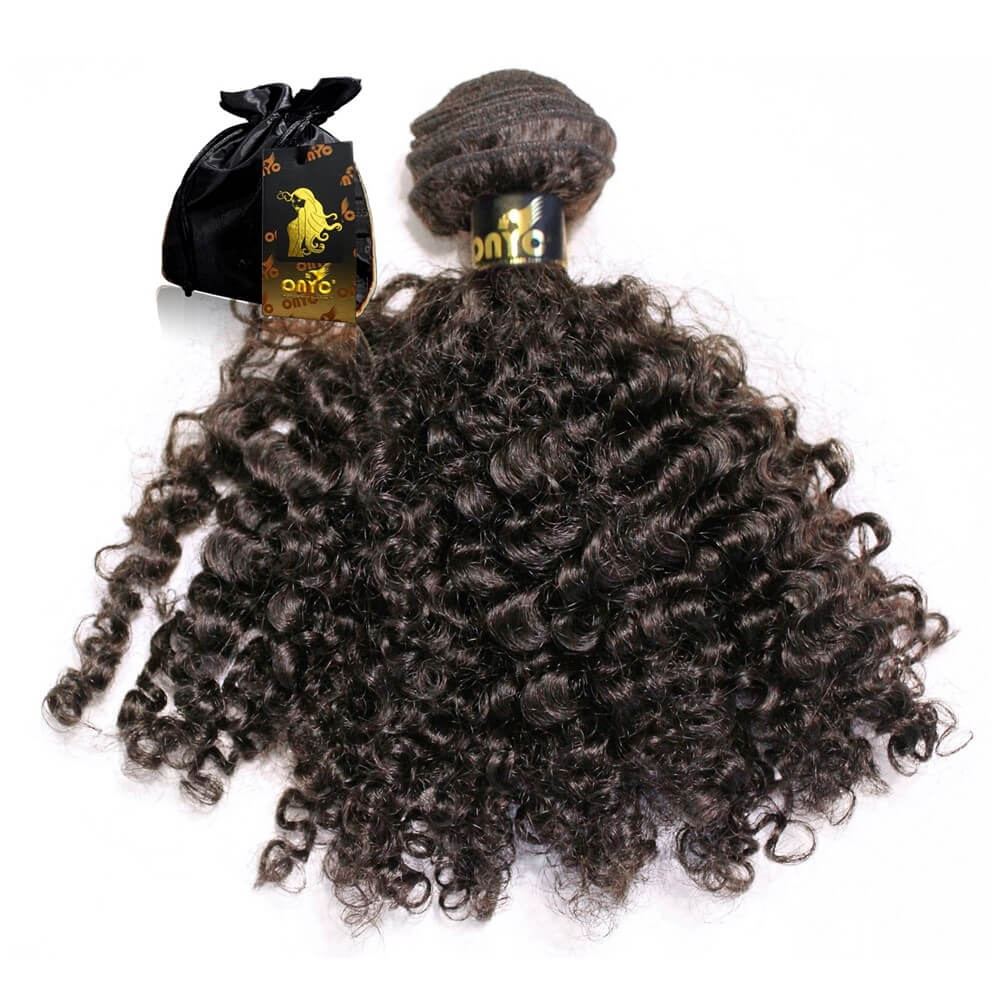 Virgin Kinky Curly Hair Extensions Machine Weft ONYC 3B-3C Curl ONYC Hair Kinky 3B 3C™ Machine Weft