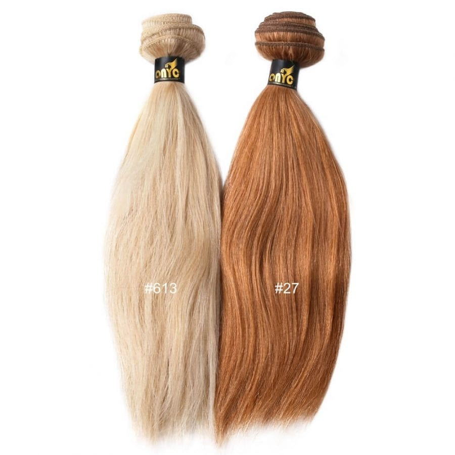 Colored Relaxed Hair Weave Extensions ONYC Hair Golden Collection ONYC Hair Relaxed Perm Golden Collection 27 And 613