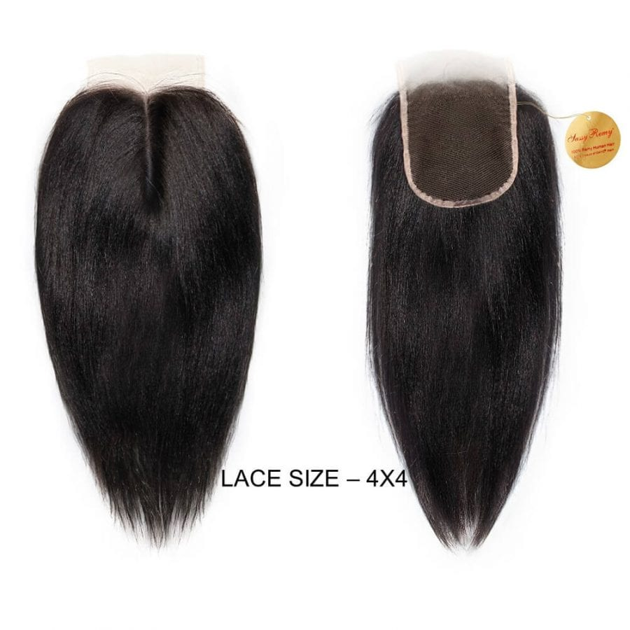 remy perm hair closure ONYC Sassy Remy Relaxed Straight Closure