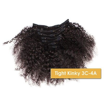 ONYC Tight Kinky 3C 4A Clipin Hair for natural girls