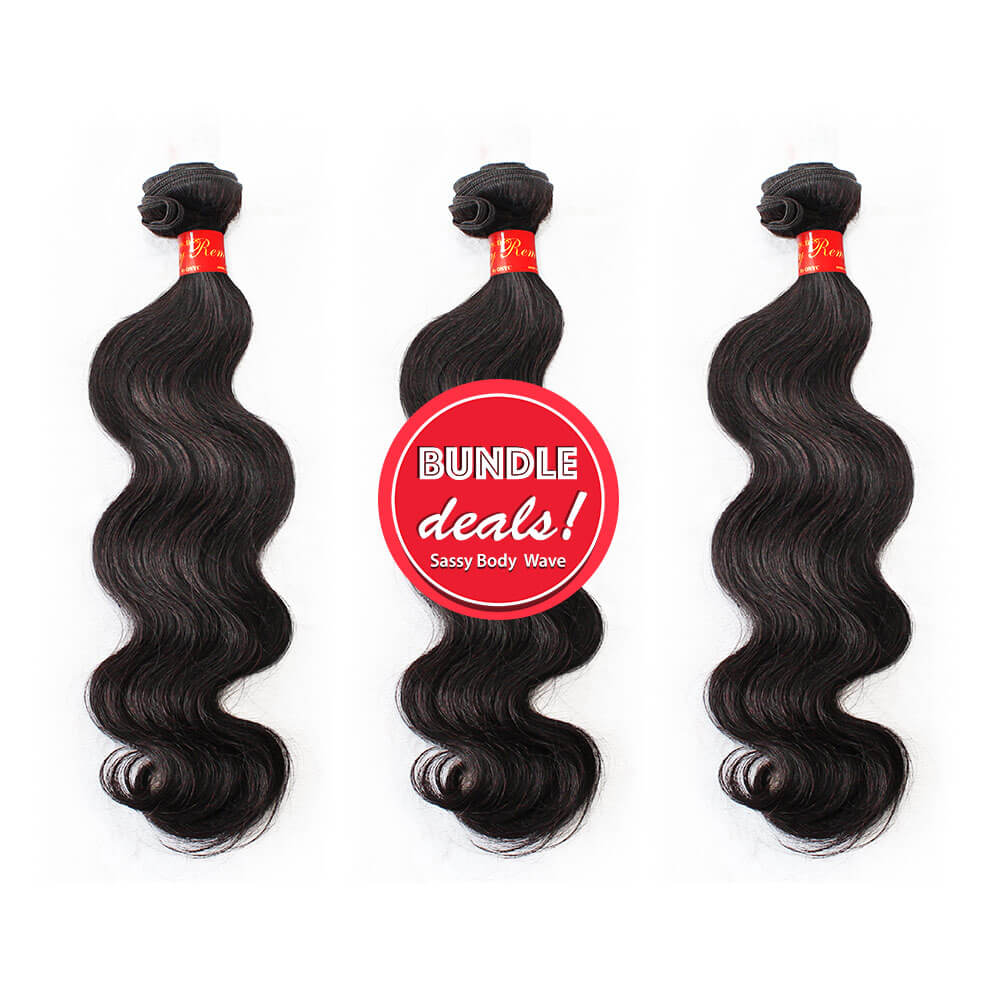 Remy Body Wave Hair Bundles with Closure Deals Sassy Remy Body Wave Bundle Deal
