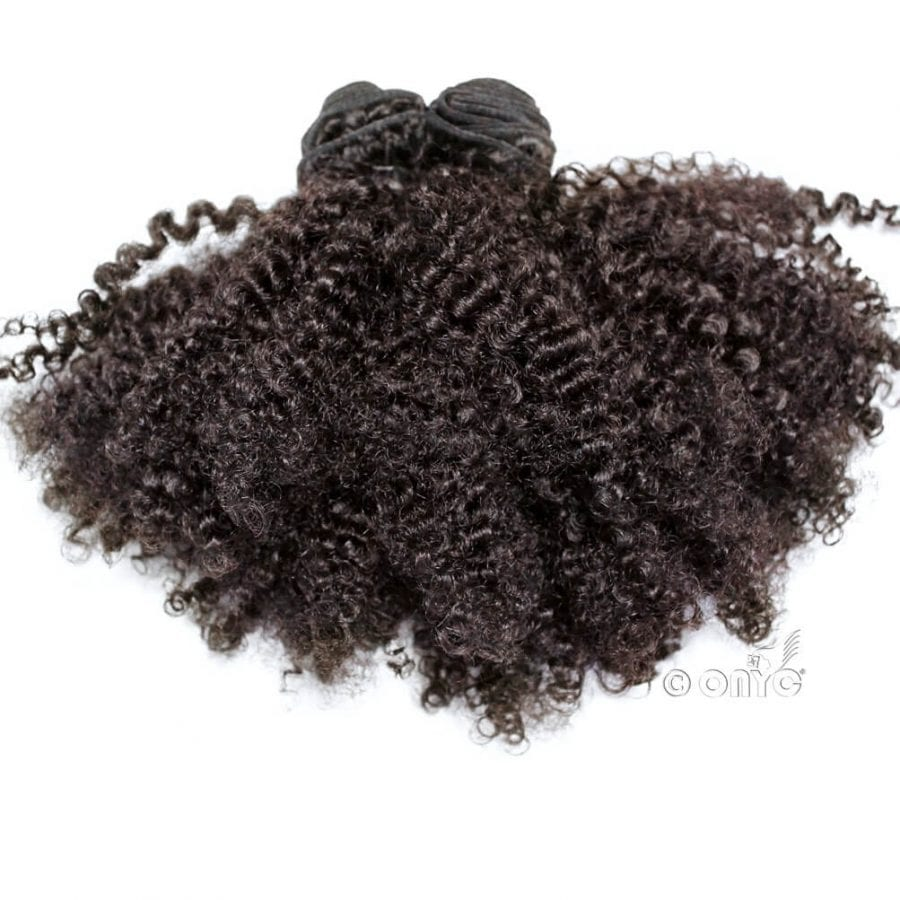 Afro Tight Kinky Hair Weave Tight Kinky 3C 4A™ Curl Machine Weft2