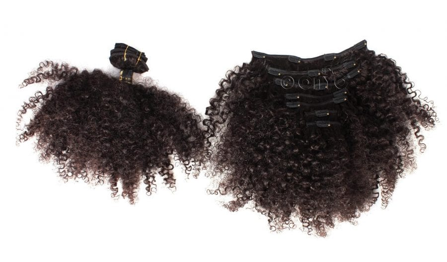Afro Tight Kinky Clip in Hair Extensions Kinky Curl 3c4a Clip In Hair Extension 4