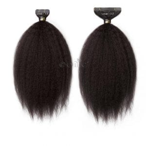 Kinky Straight Tape Hair Extensions Natural Hair Extensions