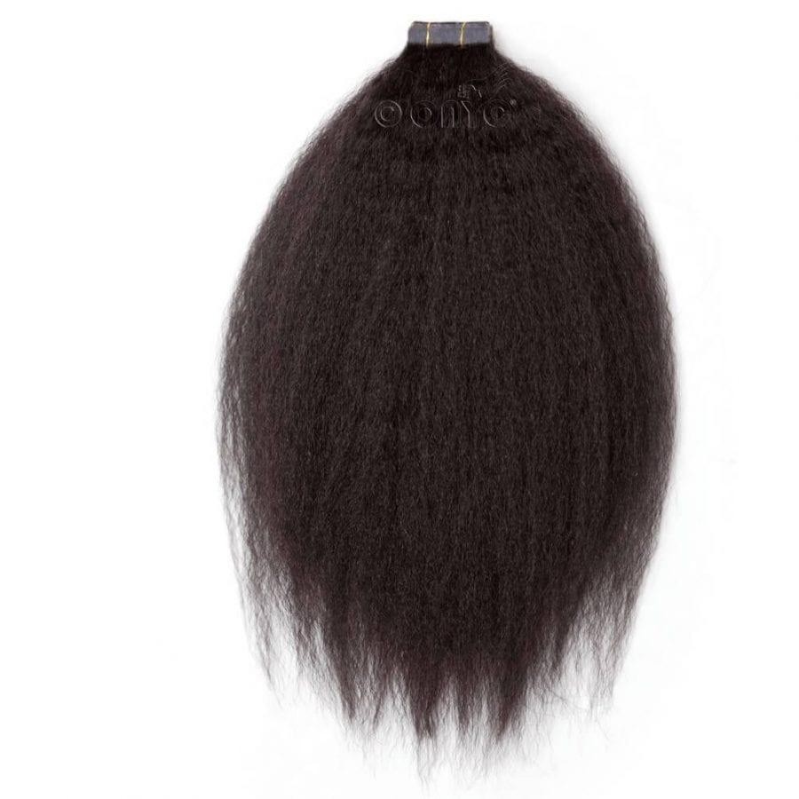 Onyc Fro Out Kinky Straight Tape Hair Extensions3