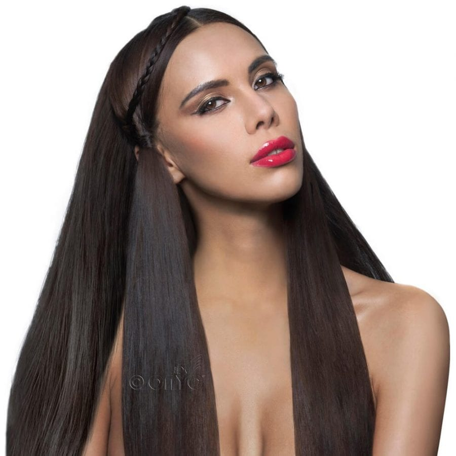 Pure Cuticle Best Silky StraightVirgin Hair. Raw Mongolian Virgin Hair with lots of shine! Onyc Hair Virgin 1b Natural Straight Hair Model